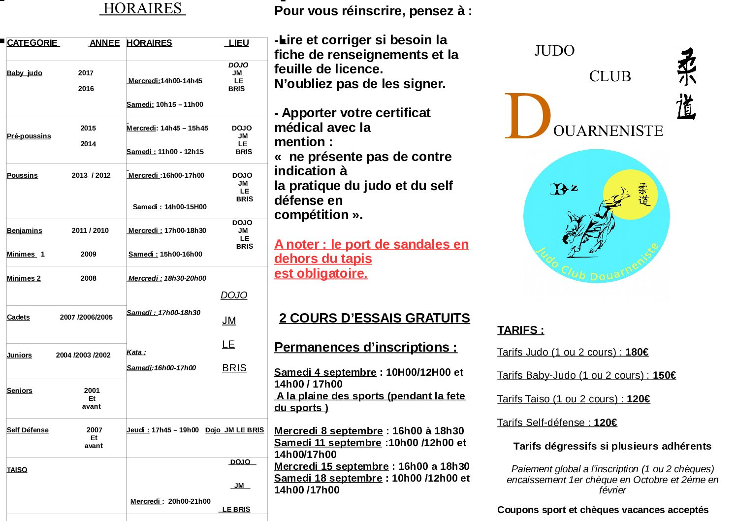 tarifs et licences SAISON 2021 2022 pdf - Accueil